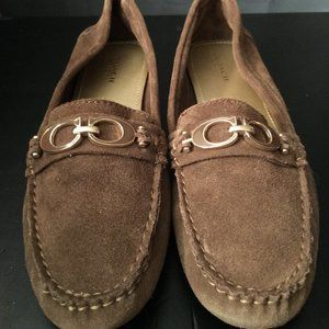 Coach Brown Suede Flats Size 7.5